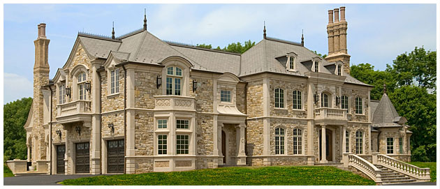 Luxurious European Chateau Inspired By 16th Century French Castles Has  Hand Chiseled Stone And Cast