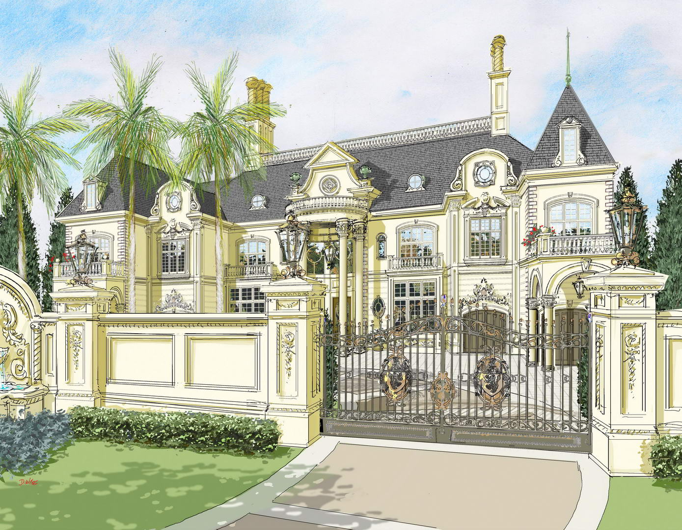Custom Floor Plans For New Homes The Abuja French Chateau Nigeria Africa