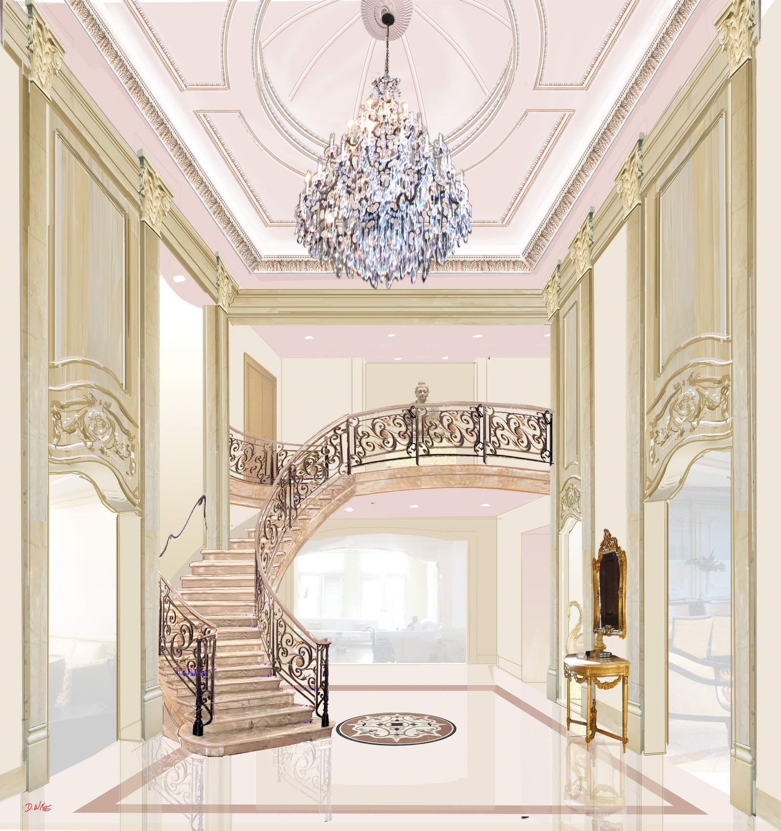 Mansion Foyer Designs : Alpine new jersey interior