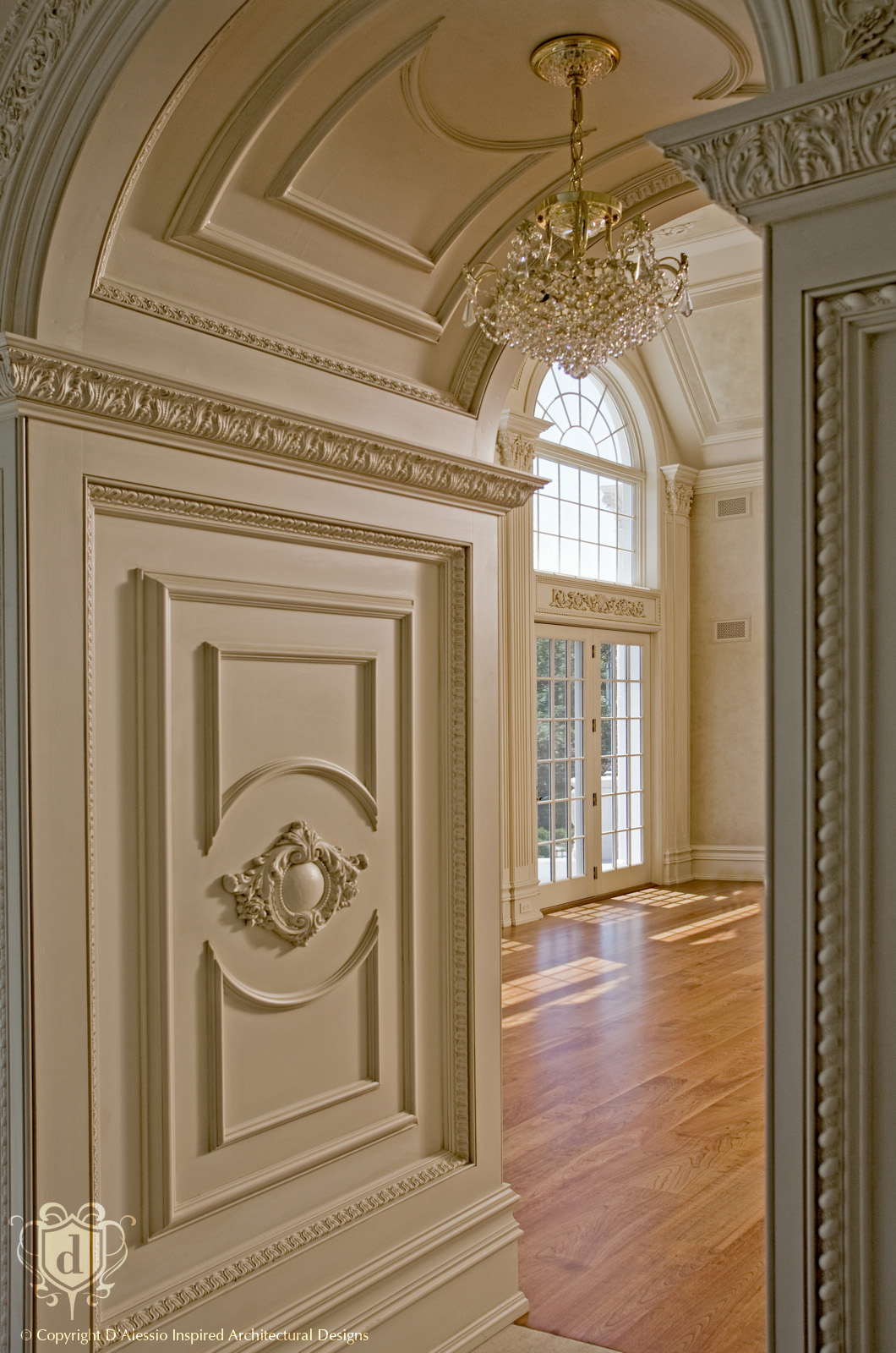 D 39 alessio custom architectural millwork design services for Decorative archway mouldings
