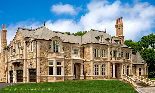 Dalessio inspired architectural designs custom luxury for Castle architecture design